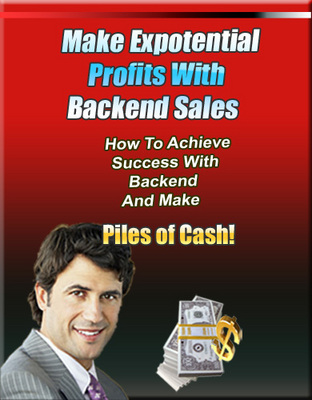 Product picture Make Exponential Profits with Backend Sales PLR