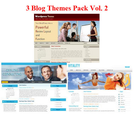 Product picture 3 Blogs Themes Pack Vol 2 PLR