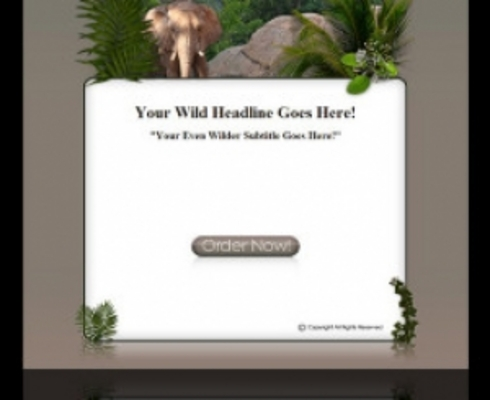 Product picture Wild Life Template 3 Elephant MRR