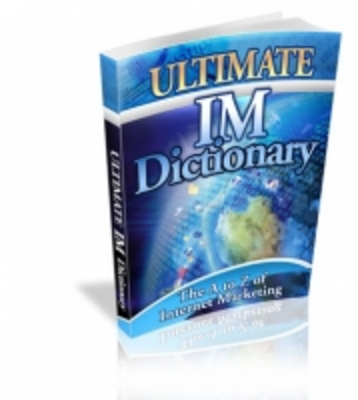 Product picture Ultimate IM Dictionary MRR