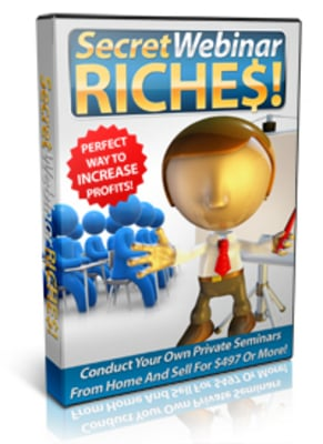 Product picture Secret Webinar Riches MRR